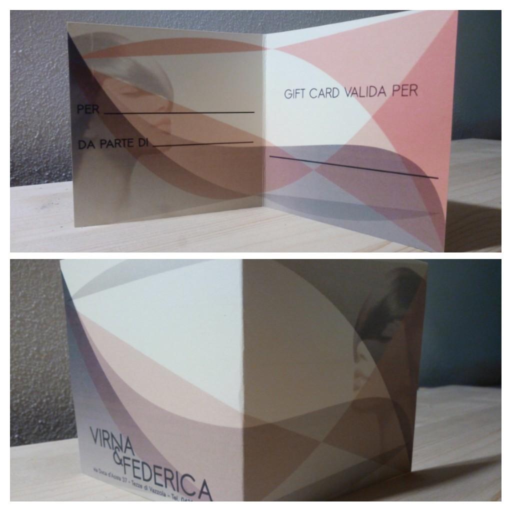 Grafica per Gift Card VIRNA & FEDERICA – Vazzola