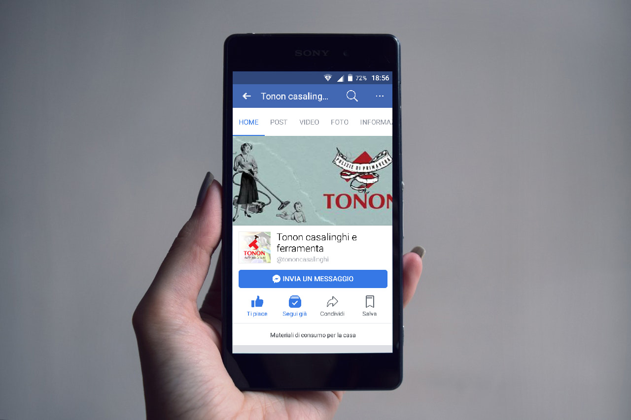 Gestione pagina Facebook TONON CASALINGHI – Oderzo